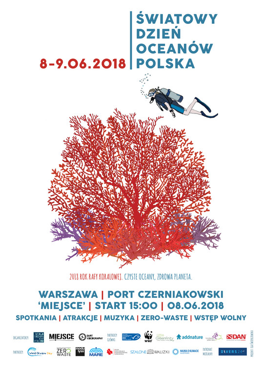 world oceans day poland poster 2018