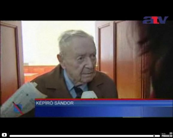 Nacista Šandor Kepiro na suđenju u Budimpešti