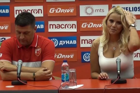 OPET JE UKRALA ŠOU NA MARAKANI! Tanja Šajković zvezda pred Zvezdinu borbu za Ligu šampiona /FOTO/