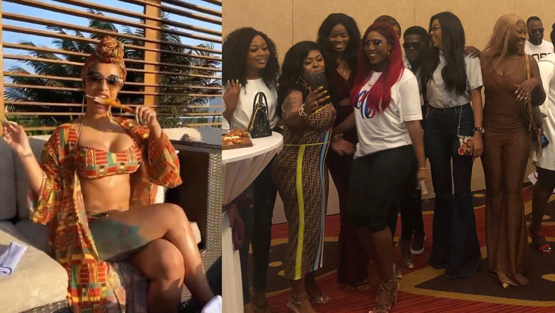 VIDEO: Asamoah Gyan and Essien troll celebs who were snubbed by Cardi B