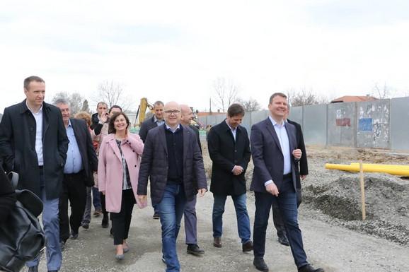 Igor Mirović i Miliš Vučević obišli su danas radove