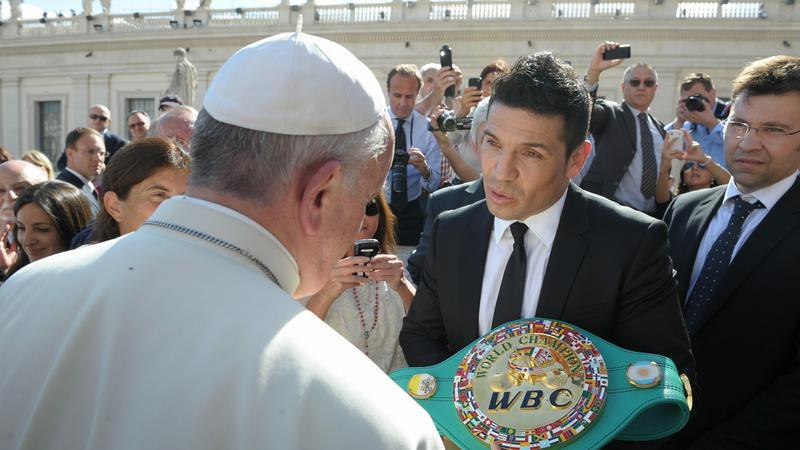 Papież Franciszek i Sergio Martinez