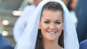 Na suknię ślubną Agnieszki Radwańskiej zużyto 6,5 tys. kamieni Swarovskiego