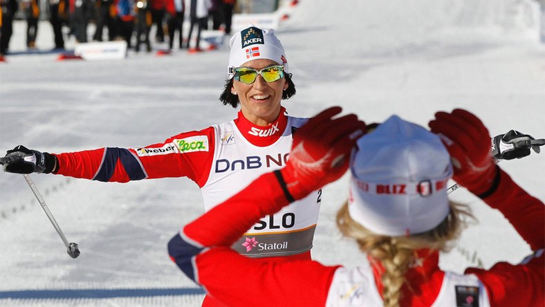 Norwegowie mistrzami nart, Bjoergen dominatorką