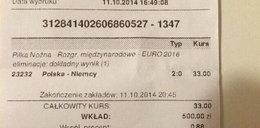 Postawił na wygraną Polaków i zgarnął 13 tysięcy!