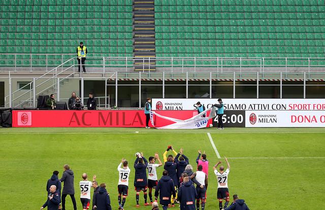 Fudbaleri Đenove pozdravljaju prazne tribine