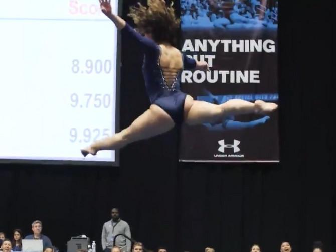 Gimnastičarka viralna senzacija