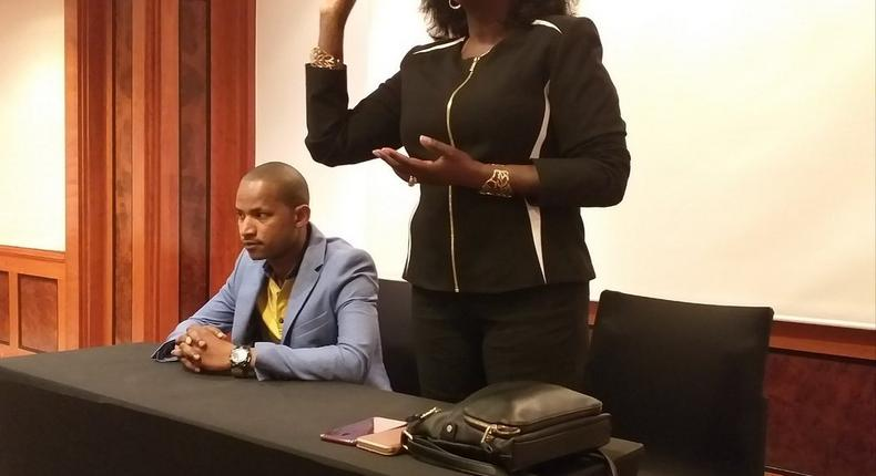 MP Babu Owino with Uasin Gishu Woman Rep Gladys Boss Shollei during visit to Hungary (Twitter)