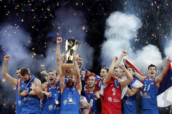 Odbojkaška reprezentacija Srbije slavi titulu prvaka Evrope 2019.