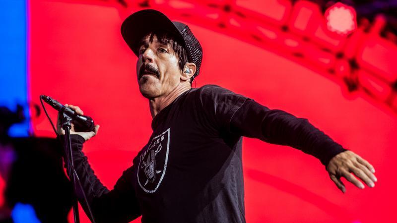 Anthony Kiedis wokalista Red Hot Chili Peppers, jednego z uczestików Lollapaloozy