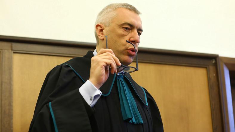 Mec. Roman Giertych na sali Sądu Okręgowego w Warszawie