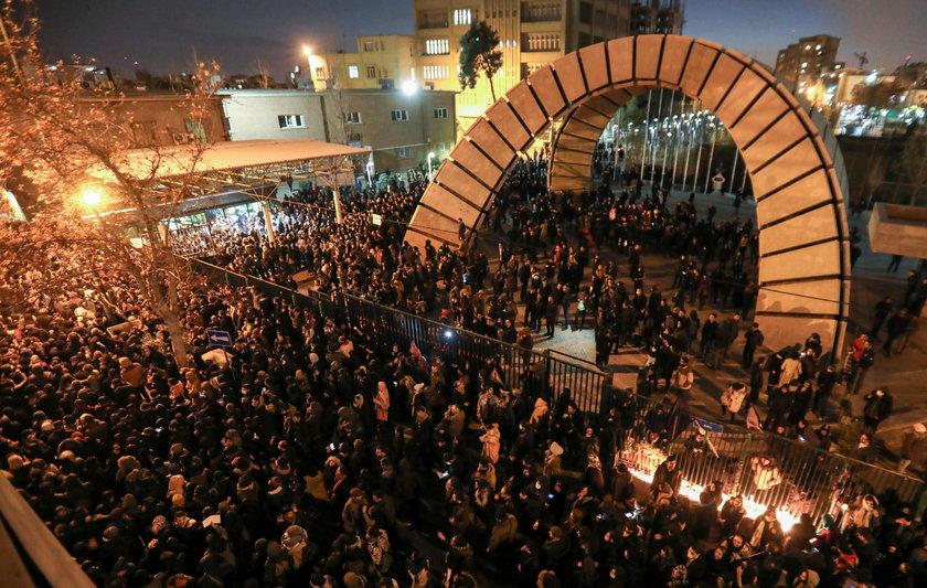 Protesty w Iranie.