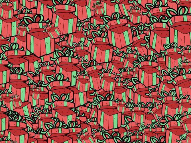Ceo Internet je POLUDEO OD NERVOZE: Niko NE MOŽE da pronađe VREĆICU NOVCA među gomilom poklona, a oni koji su osmislili ilustraciju tvrde da je potrebno PAR SEKUNDI!