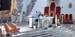 Włamali się do kościoła, wyjęli kielich i to zrobili. Jest nagranie!