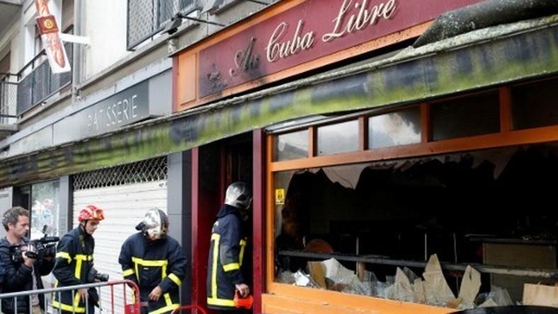 Pożar w barze w Rouen