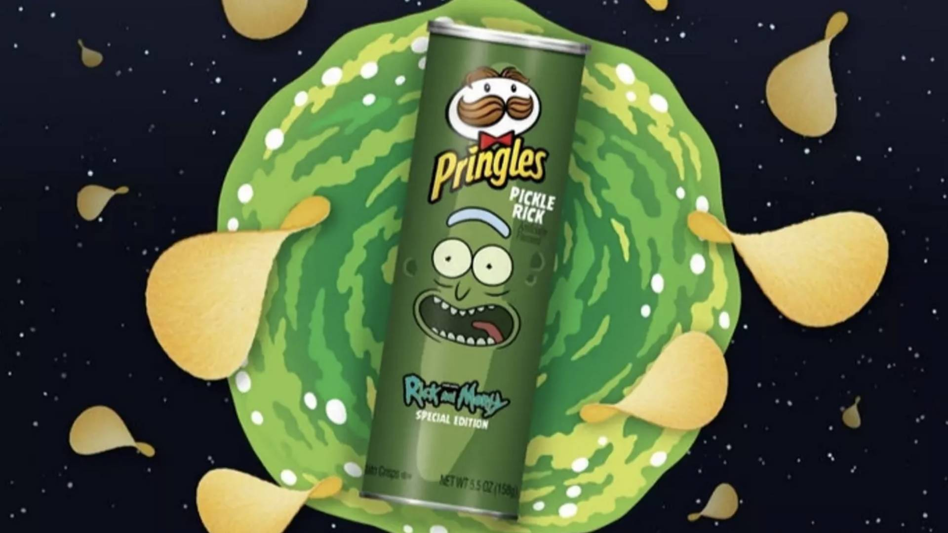 """Rick And Morty"" und Pringles bringen Pickle-Rick-Chips raus!"