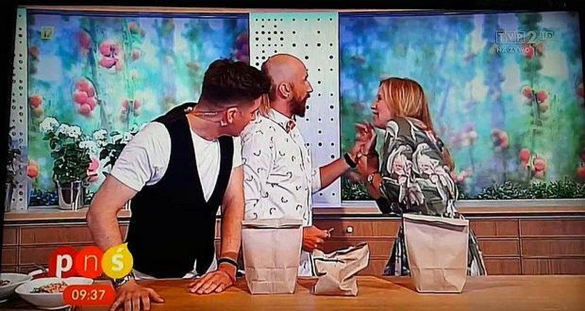 Afera w telewizji śniadaniowej. Iluzjonista zranił prowadzącą