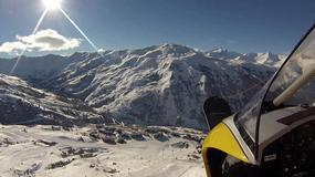 Zimowa Jazda - Region Rodan-Alpy z lotu ptaka