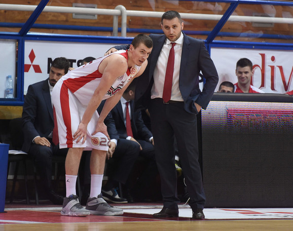 Boriša Simanić i trener Vladimir Jovanović