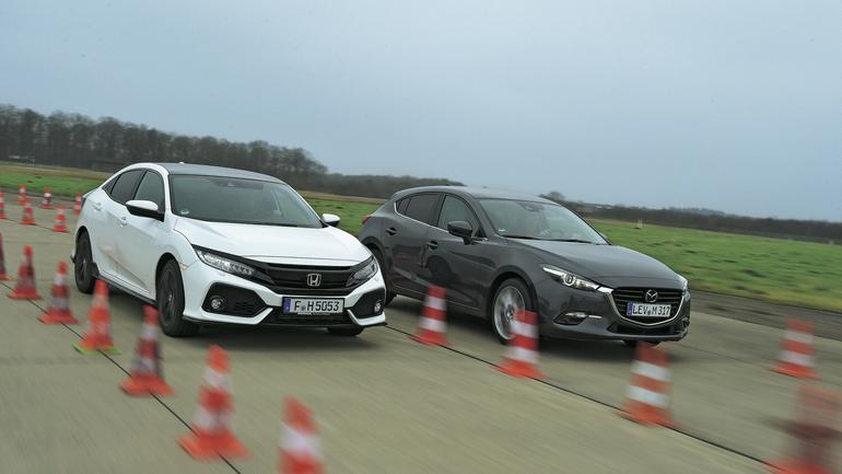 Gwiazdy sceny alternatywnej: nowa Honda Civic kontra Mazda 3
