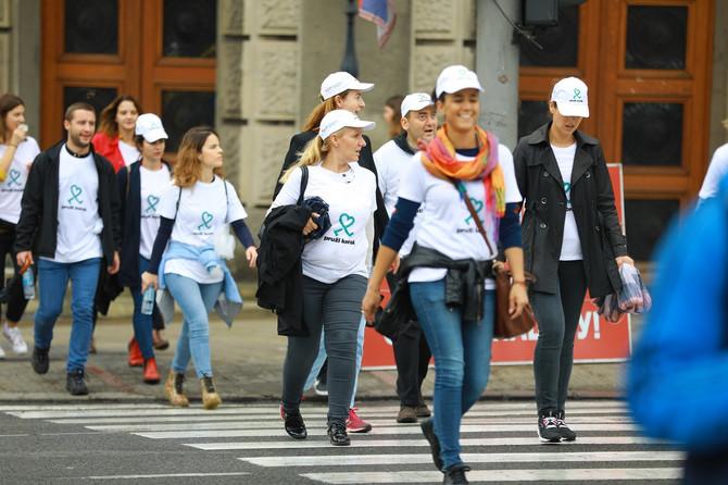NIS volonteri u NURDOR šetnji