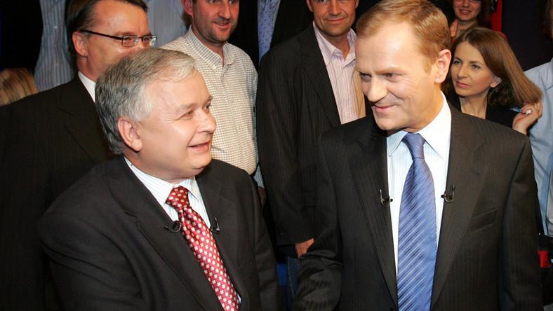Prezes PiS Jarosław Kaczyński krytykuje rząd Donalda Tuska