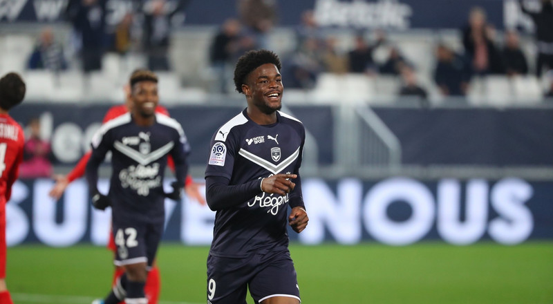 Nigerian striker Josh Maja scores a hat trick as Bordeaux thrash Nimes 6-0 in Ligue 1