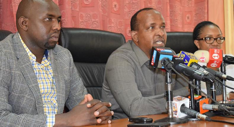 National Assembly Majority Leader Aden Duale and his Senate counterpart Kipchumba Murkomen