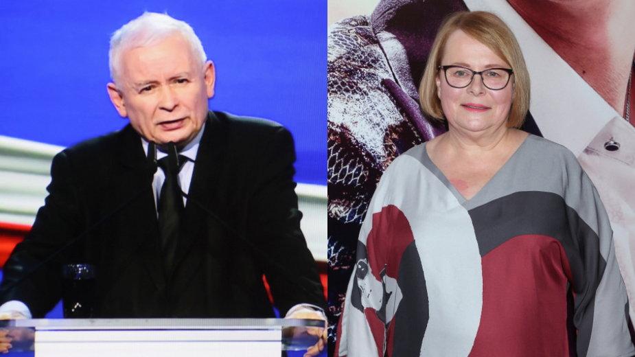 Jarosław Kaczyński i Ilona Łepkowska (MW Media. fot. Paweł Wrzecion)