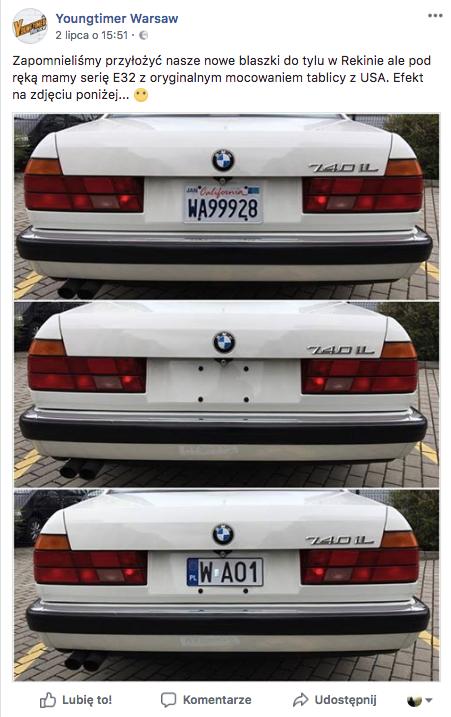 Nowe tablice na amerykańskiej wersji BMW