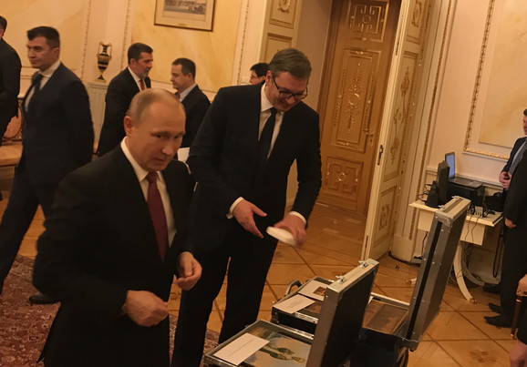 Delegacije Srbije i Rusije predvodili su predsednici Aleksandar Vučić i Vladimir Putin