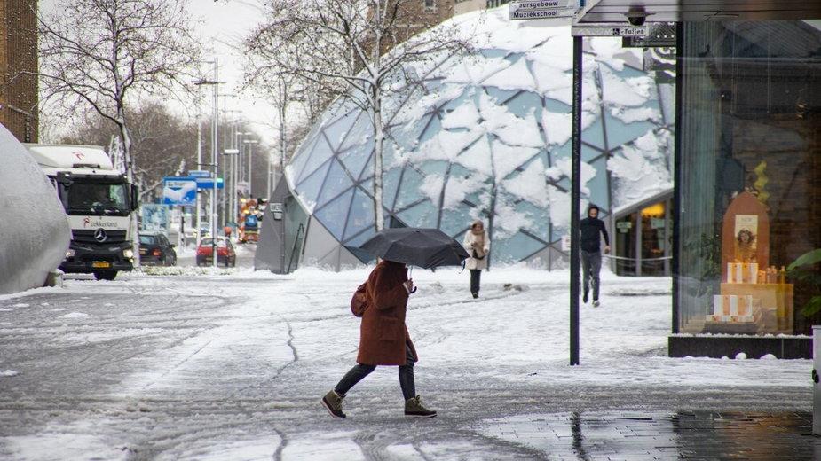 Holandia, śnieg w kwietniu