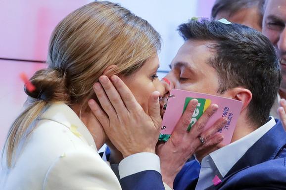 Volodimir Zelenski sa suprugom