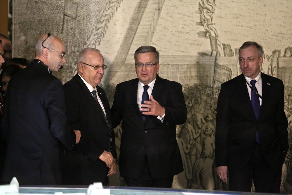 Goście na otwarciu wystawy stałej w Muzeum Historii Żydów Polskich