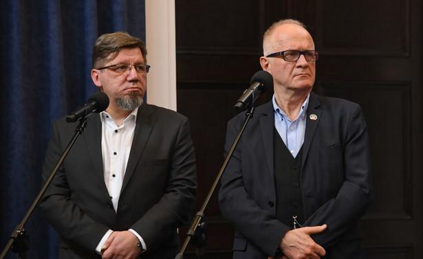 Prezes KRRiT Witold Kołodziejski oraz szef RMN Krzysztof Czabański
