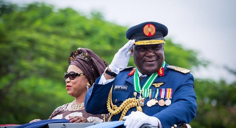 Alex Badeh, a former Chief of Defence staff during his pull out ceremony in 2015.
