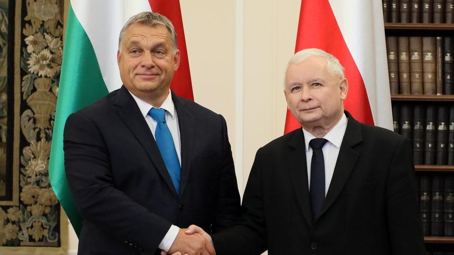 Viktor Orbán i Jarosław Kaczyński