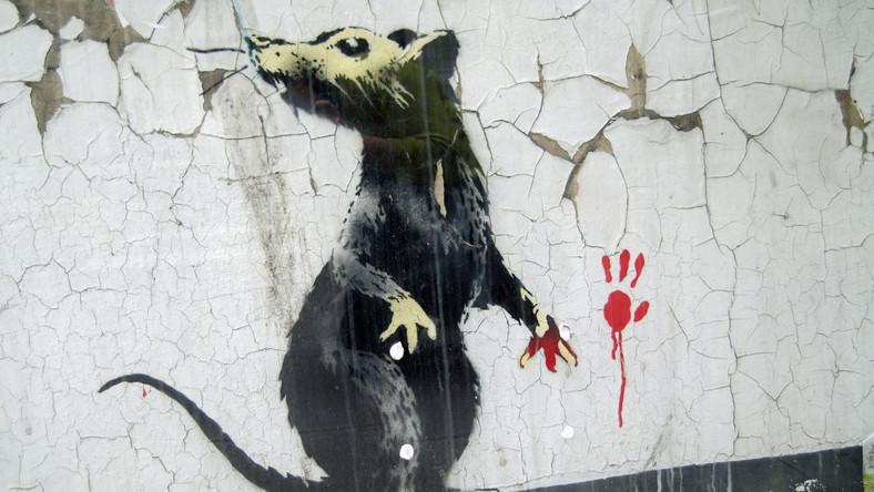 Jedno z dzieł Banksy'ego