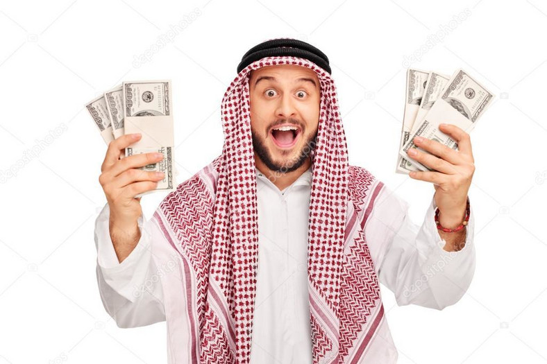 Arab holding money (depositphotos)