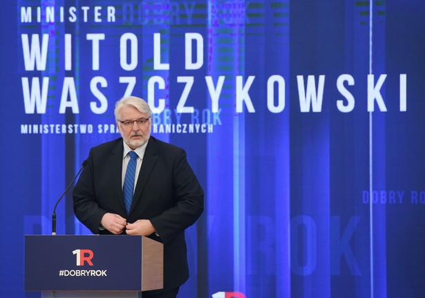 Minister spraw zagranicznych Witold Waszczykowski przedstawia sprawozdanie z pracy swojego resortu.