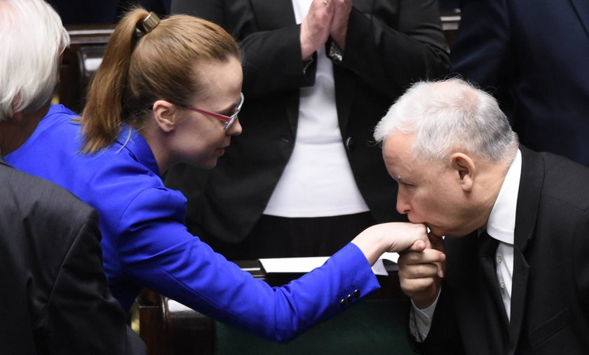 Marta Kubiak z przewodniczącym PiSu Jarosławem Kaczyńskim