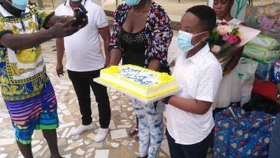 Oswald donates his 'Our Day' gifts to orphanage home (PHOTOS)