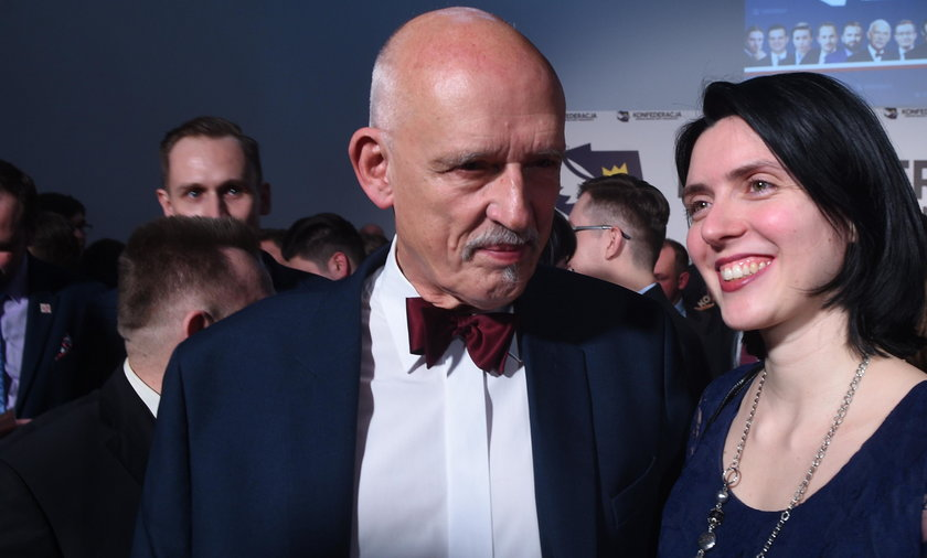 Dominika Korwin-Mikke i Janusz Korwin-Mikke