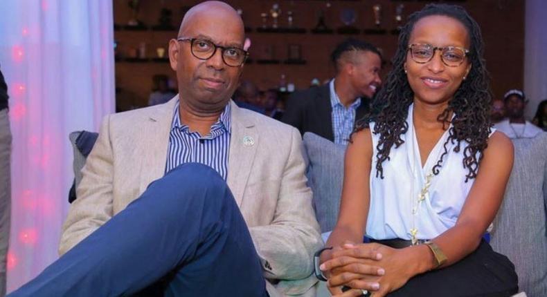 The late Bob Collymore with his wife Wambui Collymore