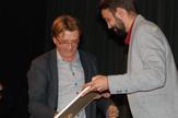 Željko Hubač prima nagradu u Zaječaru