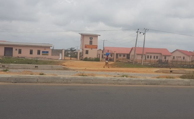 President Muhammadu Buhari Police Barracks at Mowo along Lagos-Badagry Expressway (Pulse)