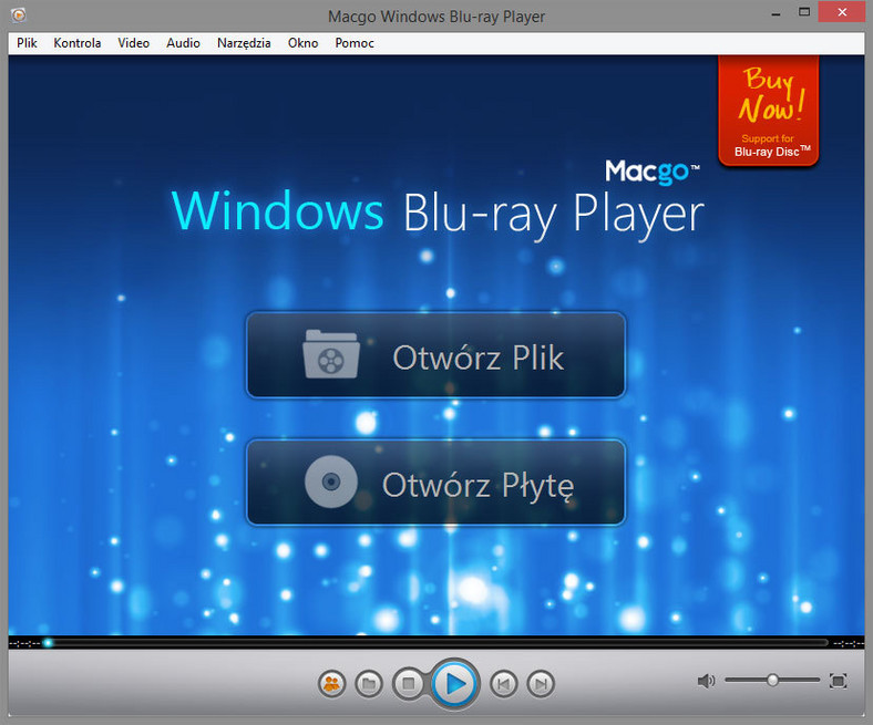 Główne okno programu do odtwarzania płyt Blu-ray - Macgo Windows Blu-ray Player