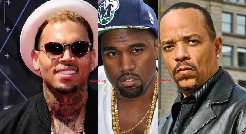 Chris Brown, Kanye West, Ice T