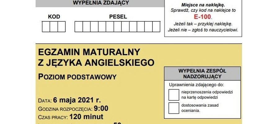 Matura 2021. Egzamin z języka angielskiego: arkusze egzaminacyjne CKE