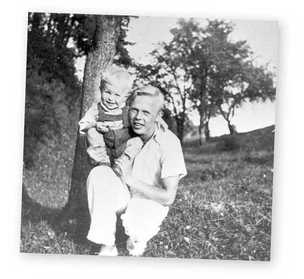 Ziutek Szczepański ze swoim młodszym bratem, Januszem